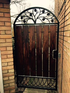 Bespoke iron gates, railings, post boxes, garden furniture